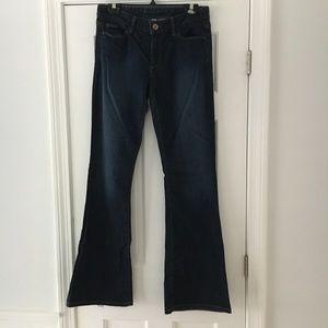Banana Republic dark flare jeans